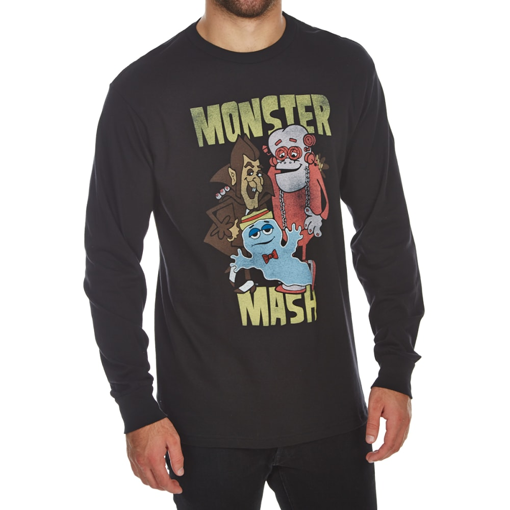 BODY RAGS Guys' Monster Cereals Mash Long-Sleeve Tee - BLACK