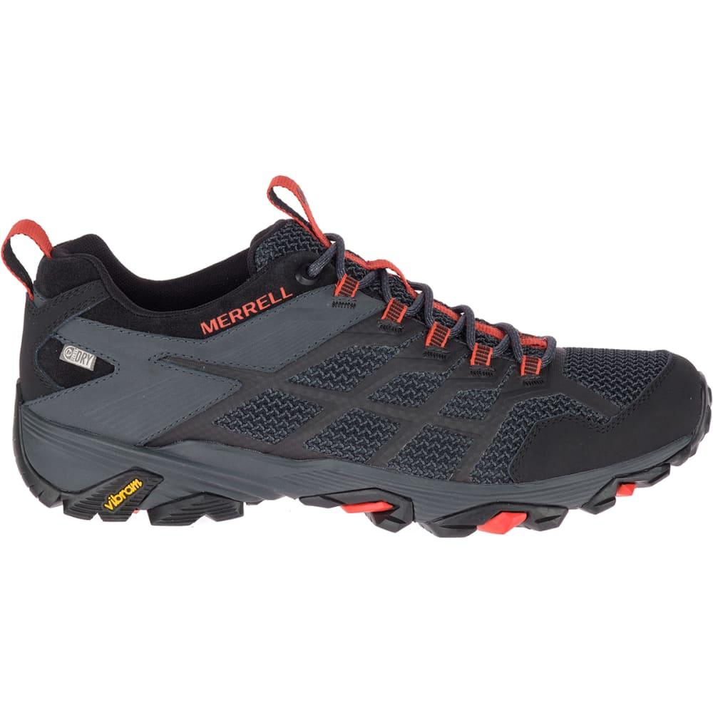MERRELL Men's Moab FST Waterproof Hiking Shoe - BLACK/GRANITE