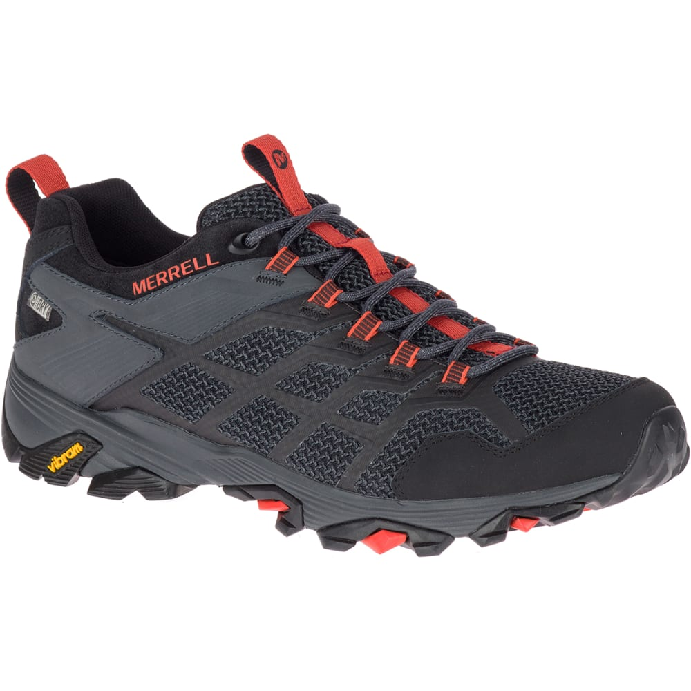 MERRELL Men's Moab FST Waterproof Hiking Shoe - BLACK/GRANITE