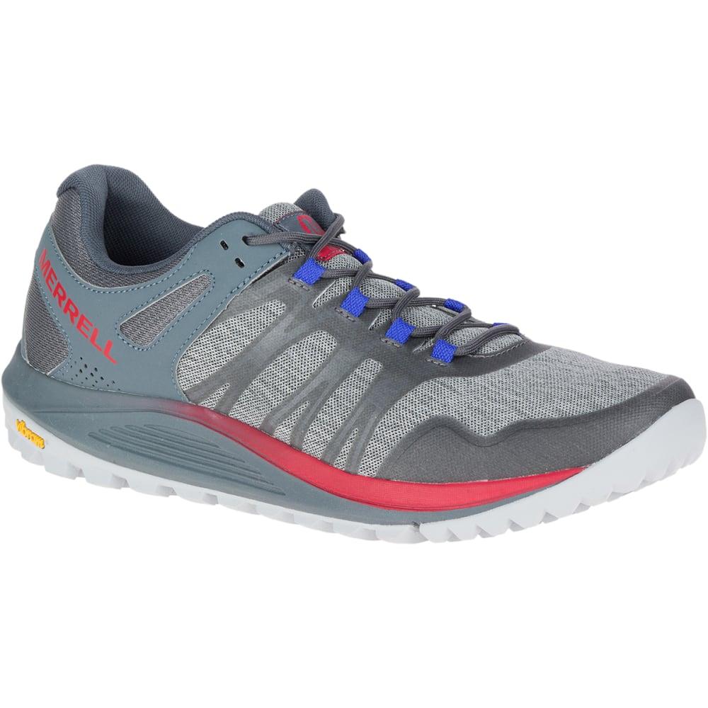 MERRELL Men's Nova Trail Running Shoes - MONUMENT/TURBULENCE