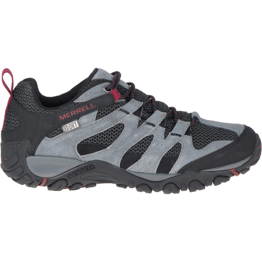 MERRELL Men's Alverstone Waterproof Low Hiking Boot - CASTLEROCK