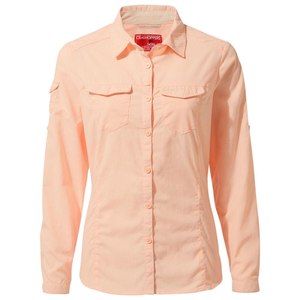 CRAGHOPPERS Women's NosiLife Long-Sleeve Shirt - 6EU SEASHELL PINK