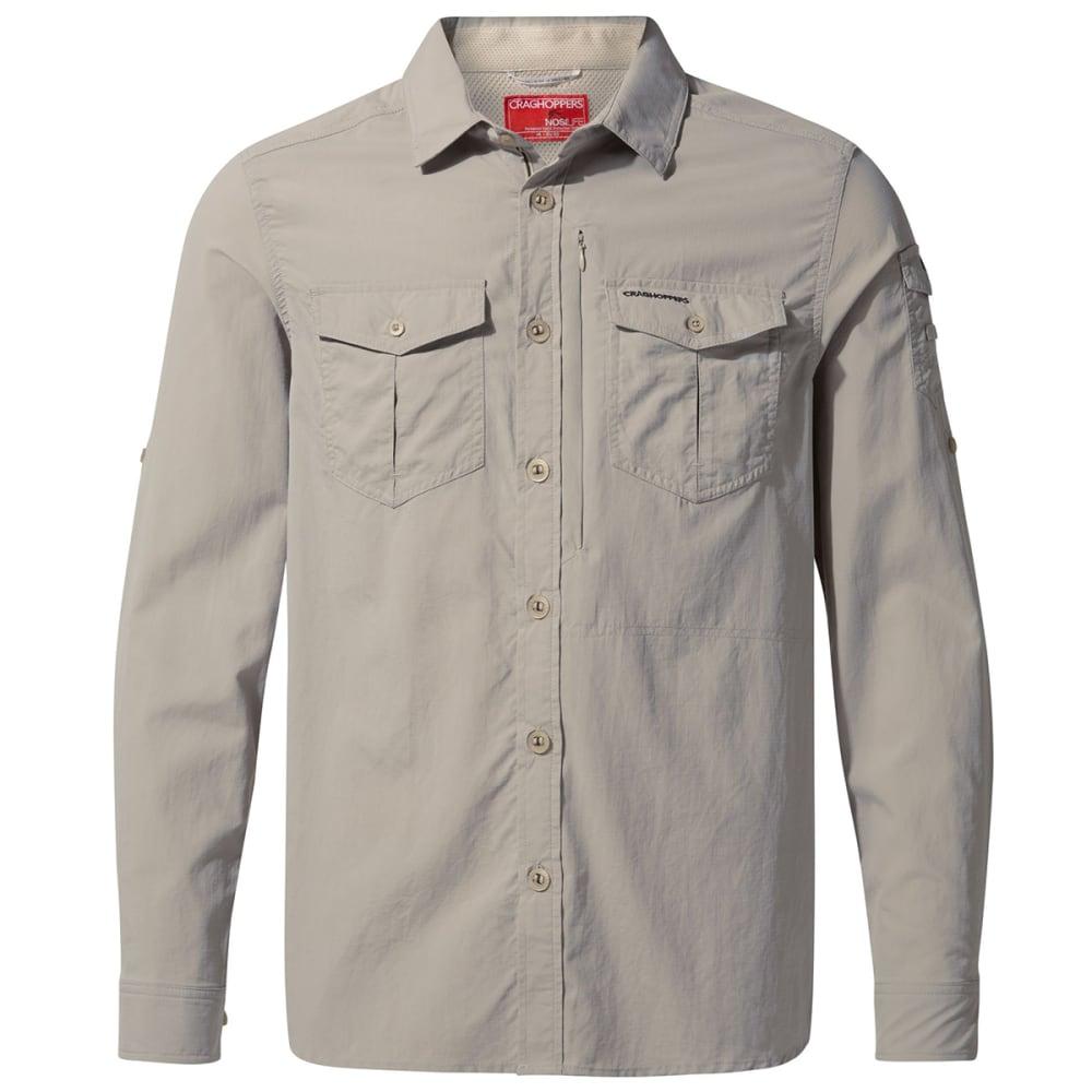 CRAGHOPPERS Men's NosiLife Adventure Long-Sleeve Shirt - 222 PARCHMENT