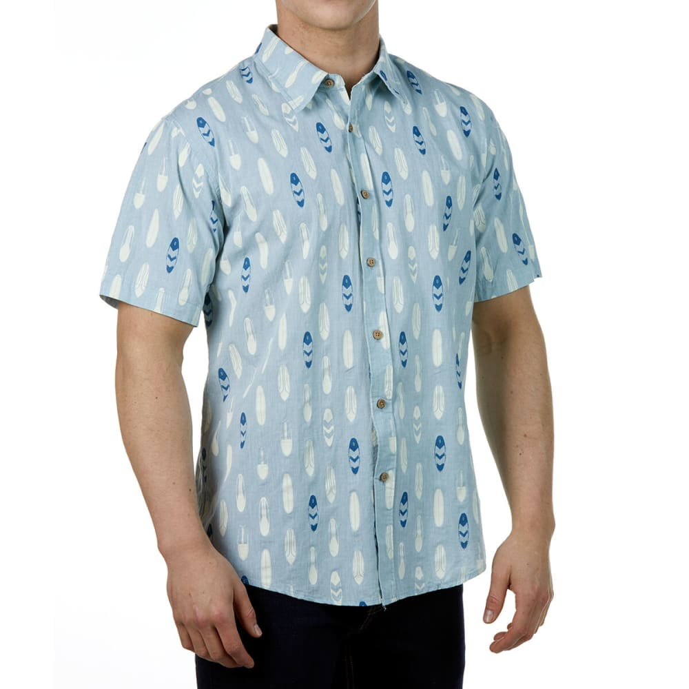 OCEAN CURRENT Guys' Boardie Woven Short-Sleeve Button-Down S