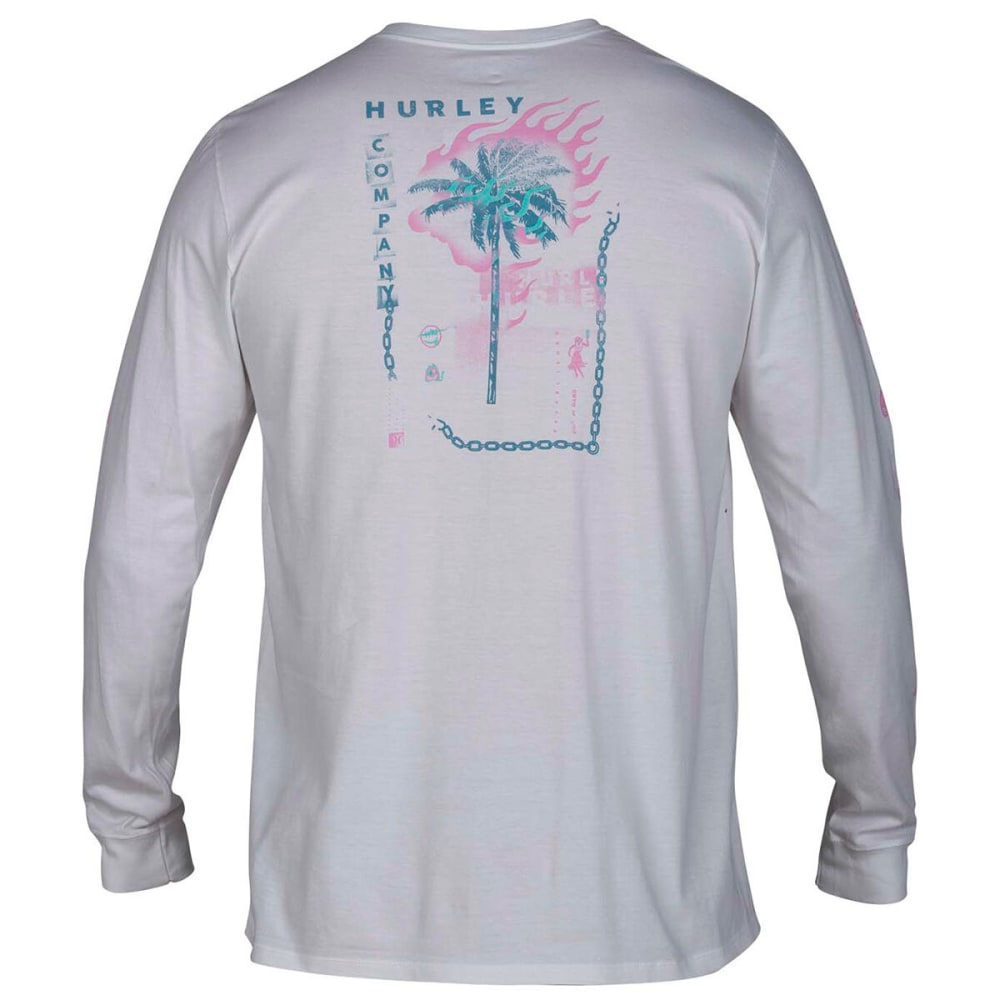 HURLEY Men's Baby Burn Long-Sleeve Tee - WHITE