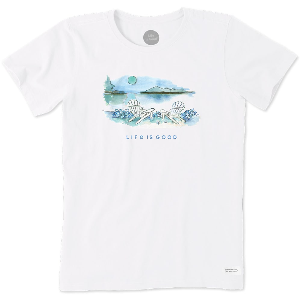 LIFE IS GOOD Women's Lovely Day Crusher Tee - CLOUD WHITE