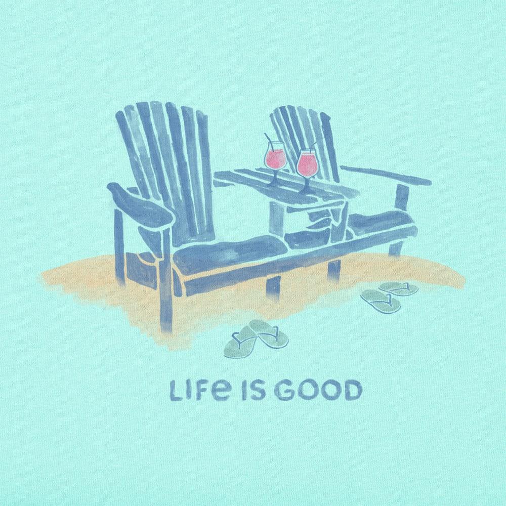 LIFE IS GOOD Women's Adirondack Duet Crusher Tee - BERMUDA BLUE