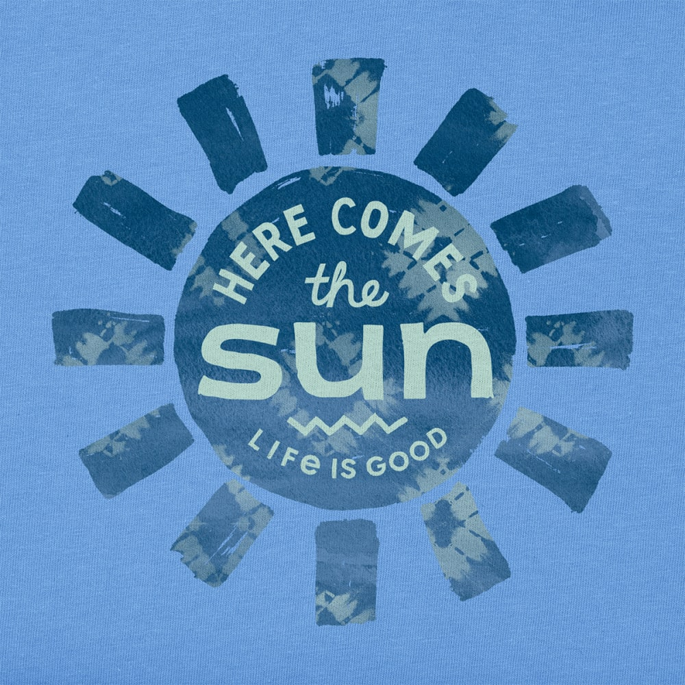 LIFE IS GOOD Women's Here Comes the Sun Tee - POWDER BLUE