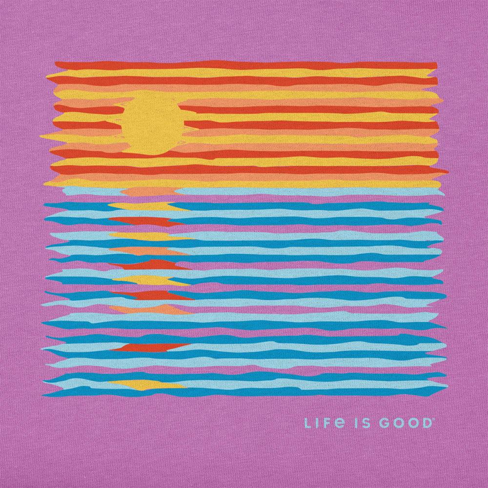 LIFE IS GOOD Women's Ocean Spectrum Short-Sleeve Crusher Tee - HAPPY GRAPE