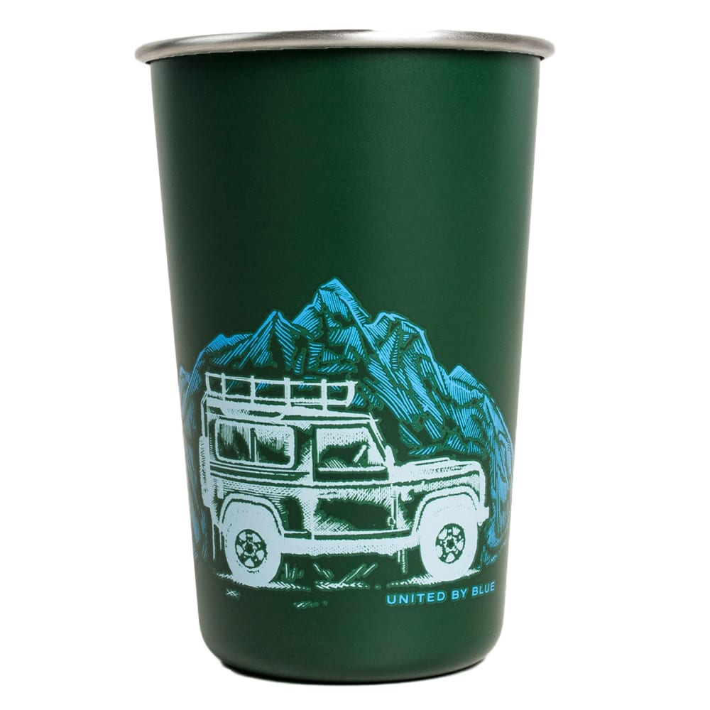UNITED BY BLUE The Mountains Are Calling Stainless Steel Tumbler - GREEN
