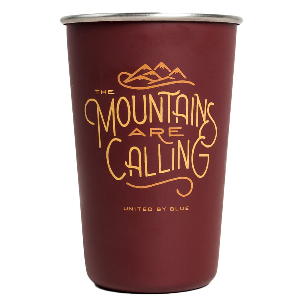 UNITED BY BLUE The Mountains Are Calling Stainless Steel Tumbler - RED