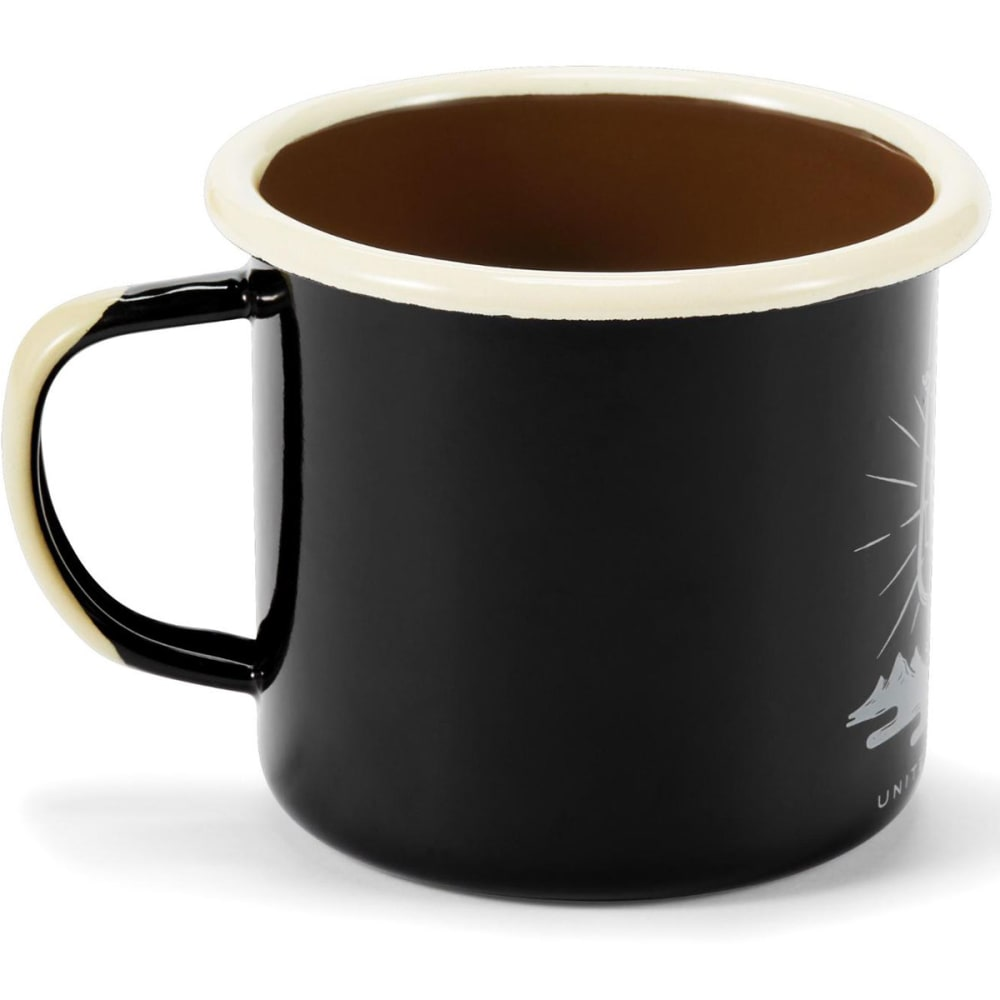 UNITED BY BLUE Enamel Steel Mug - BLACK