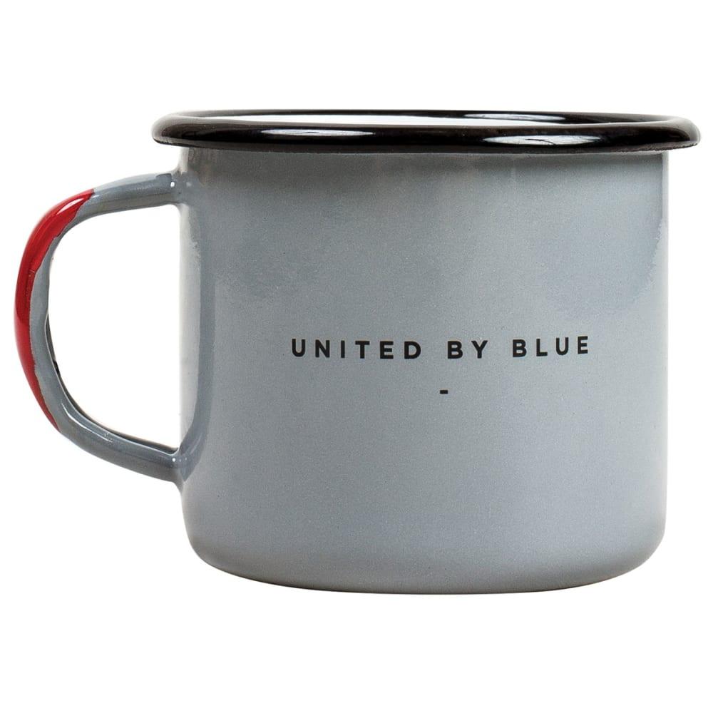 UNITED BY BLUE Enamel Steel Mug - GREY