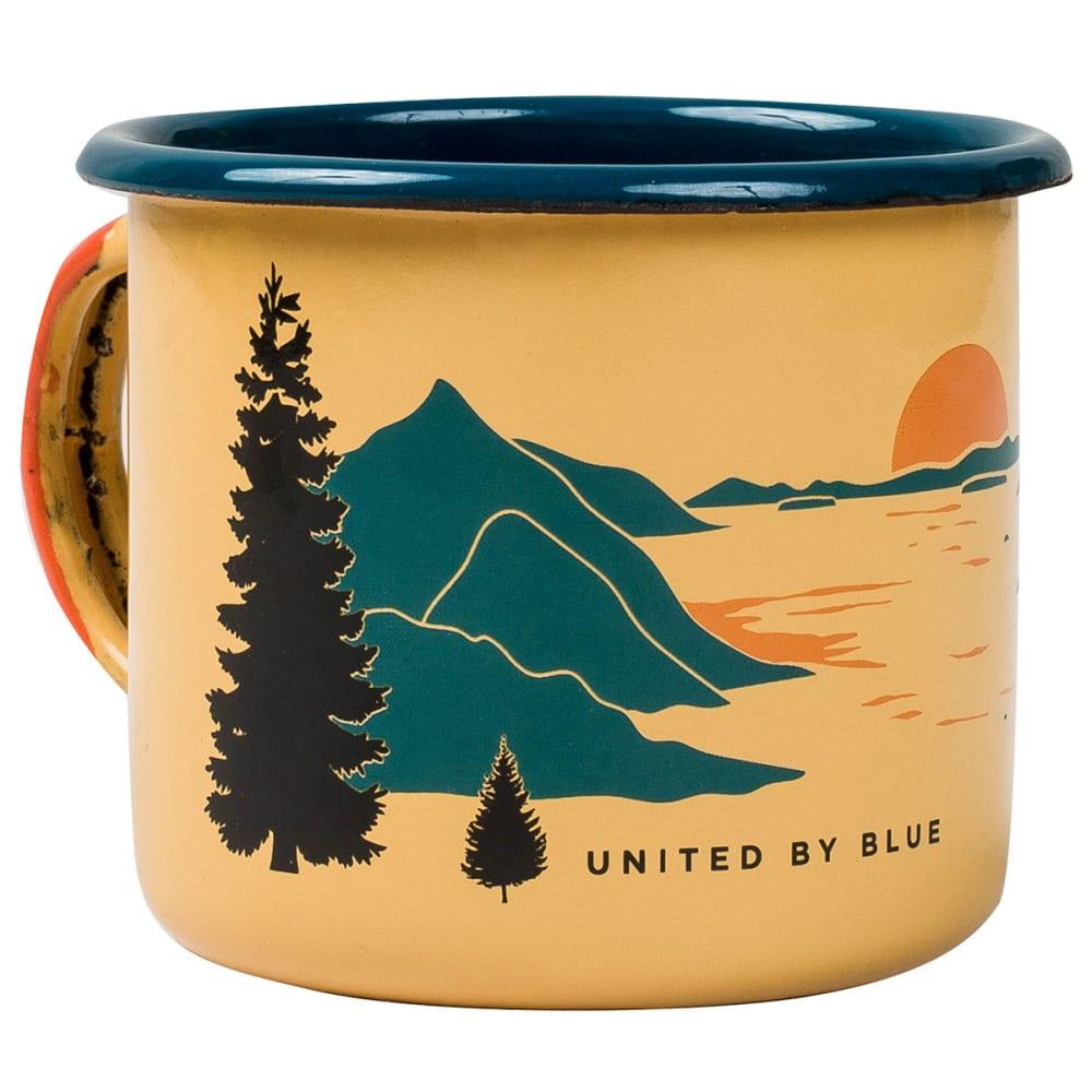 UNITED BY BLUE Enamel Steel Mug - YELLOW