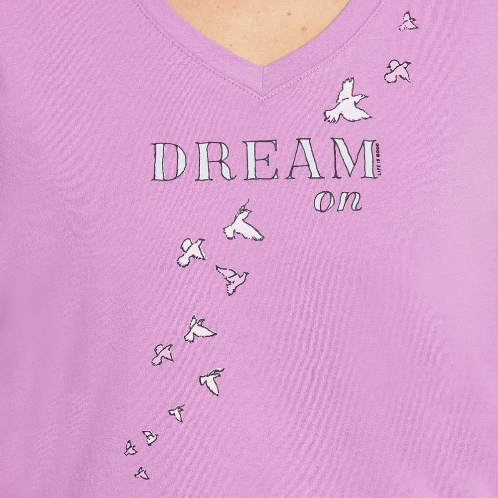 LIFE IS GOOD Women's Dream Doves Sleep V-Neck Sleep Top - HAPPY GRAPE