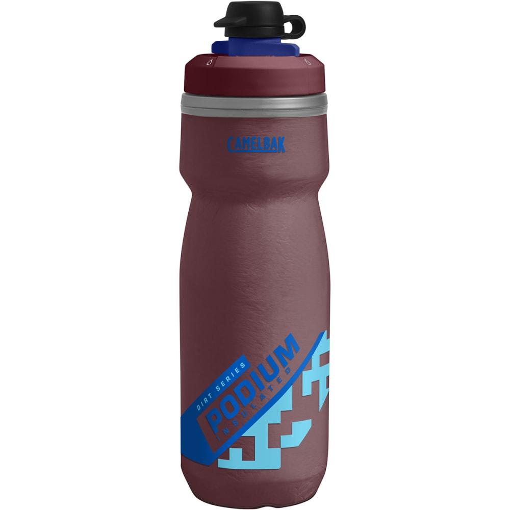 CAMELBAK Podium Dirt Chill 21oz. Water Bottle - BURGUNDY/BLUE