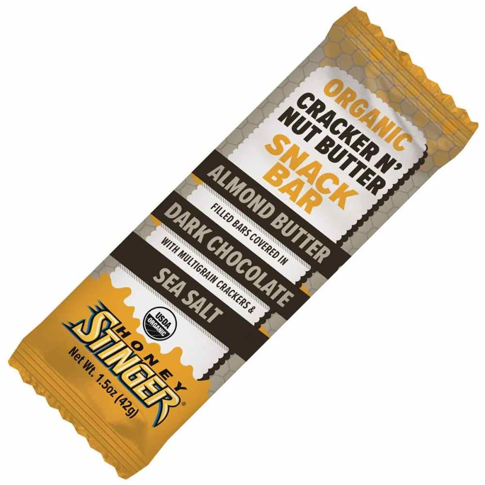 HONEY STINGER Crack N' Nut Butter Snack Bars, Almond Butter & Dark Chocolate, 12-Pack - NO COLOR