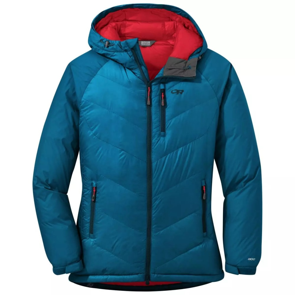 OUTDOOR RESEARCH Women's Alpine Down Hooded Jacket - CELESTIAL BLUE-1576