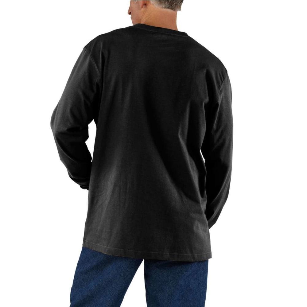 CARHARTT Men's K126 Workwear Long-Sleeve Pocket Tee, Extended Sizes - BLACK BLK