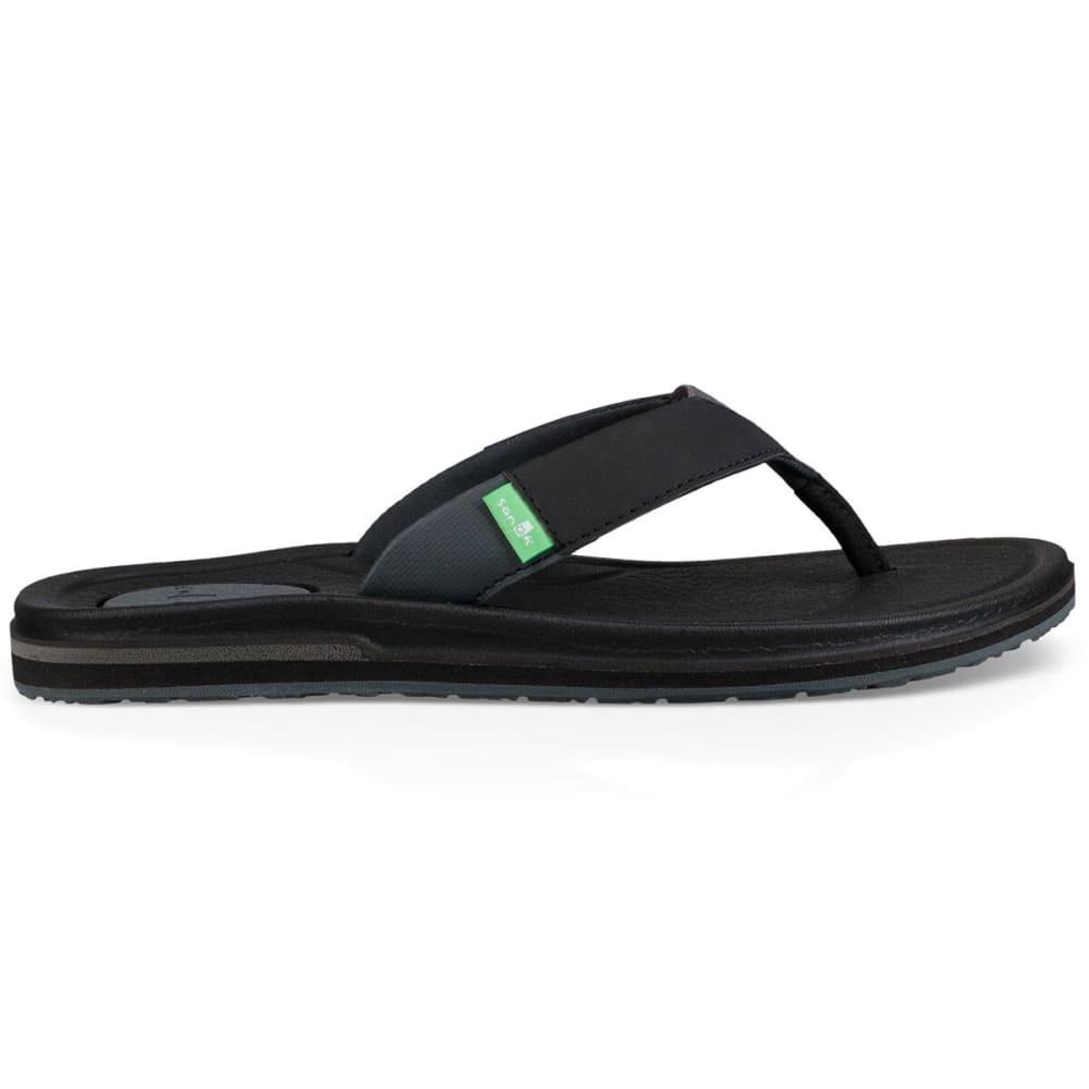 SANUK Women's Yoga Mat 3 Sandal - BLK-BLACK