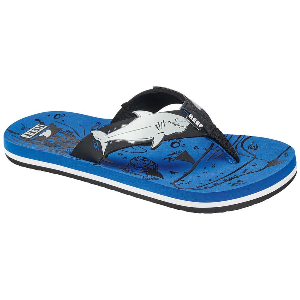 REEF Boys' Ahi Sandals - BLUE-USH