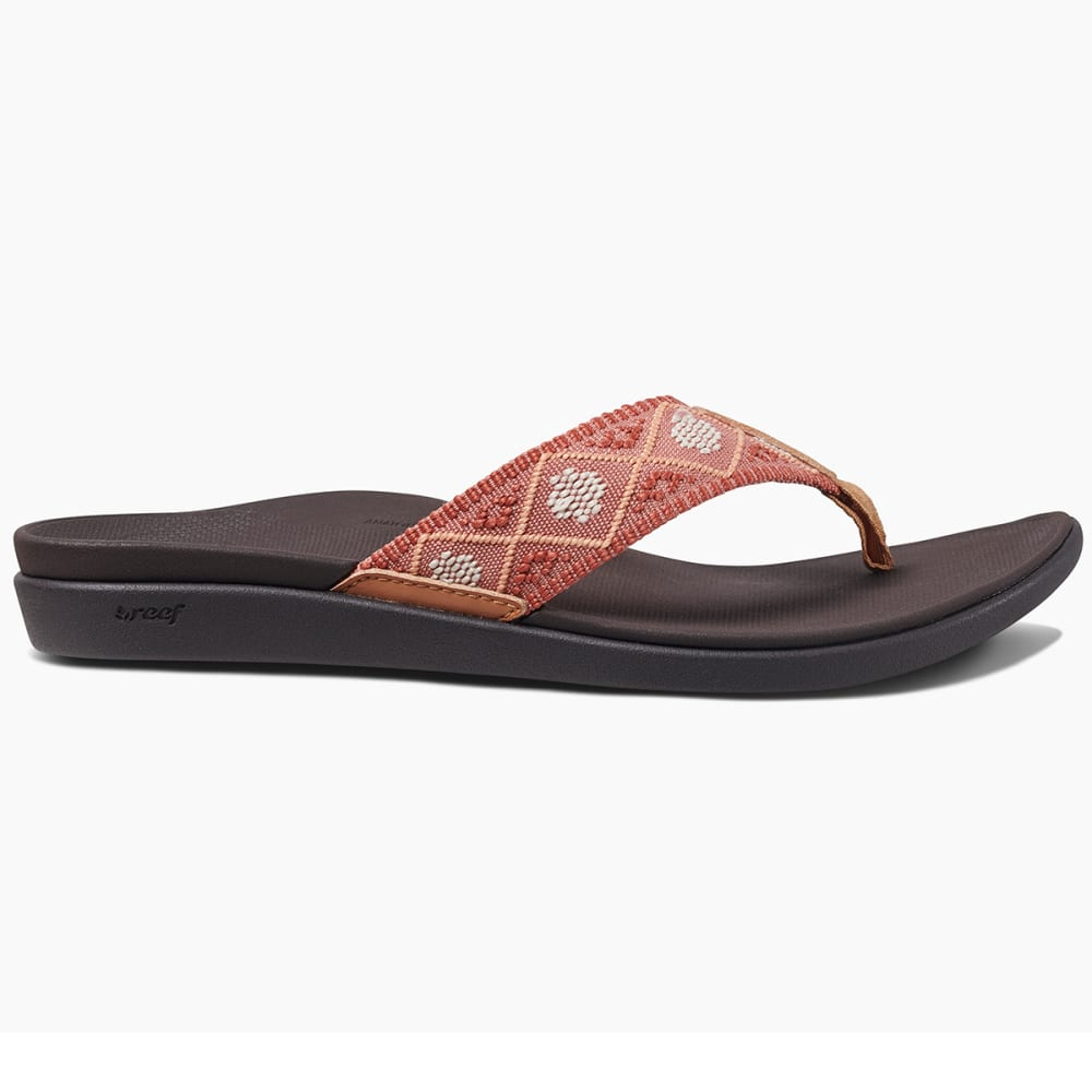 REEF Women's Ortho Bounce Woven Sandals - DUSTY CORAL-DYC