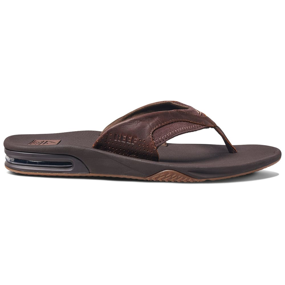 REEF Men's Fanning Flip-Flops - DARK BROWN
