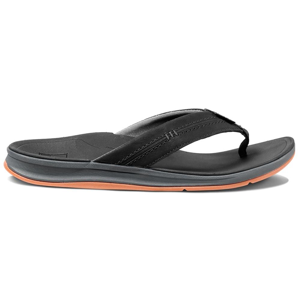 REEF Men's Ortho Bounce Coast Flip Flops - BLACK