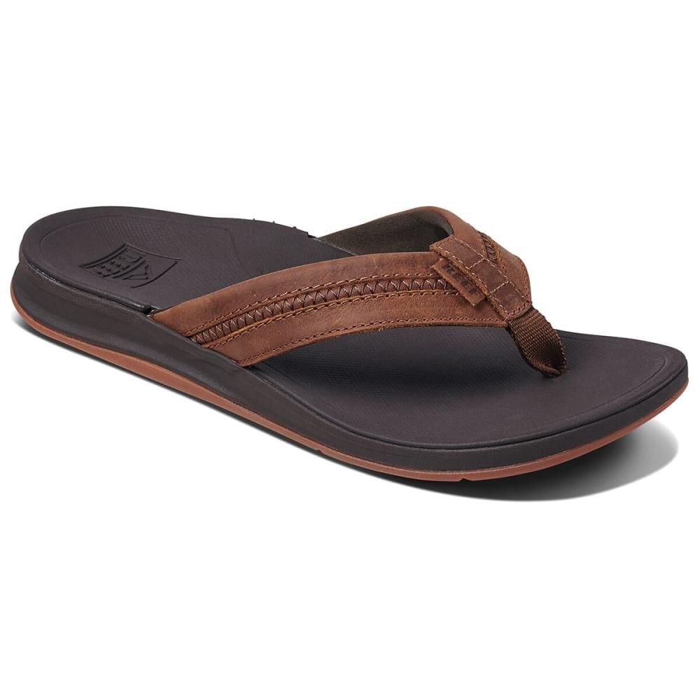 REEF Men's Leather Ortho Bounce Coast Flip Flops 8