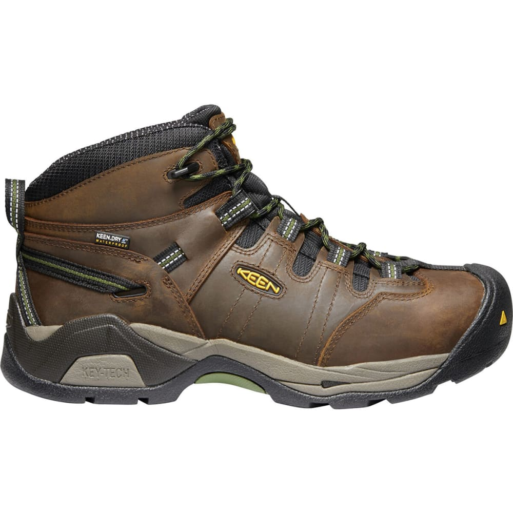 KEEN Men's Detroit XT Mid Steel Toe Waterproof Work Boots - CASCADE BRN/GRN