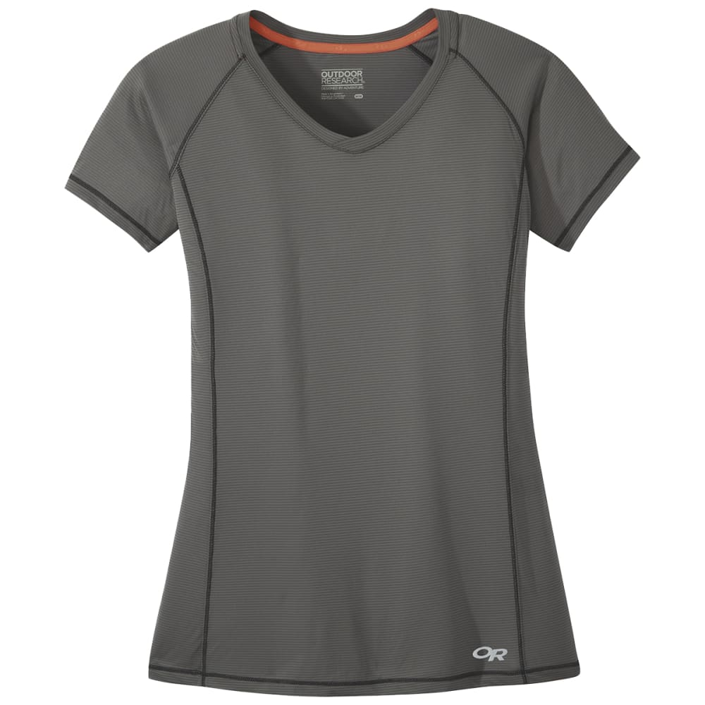 OUTDOOR RESEARCH Women's Echo Short-Sleeve Tee - 0008 PEWTER