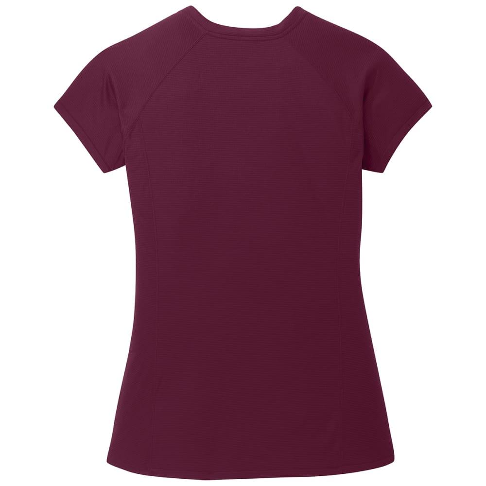 OUTDOOR RESEARCH Women's Echo Short-Sleeve Tee - 1295 GARNET