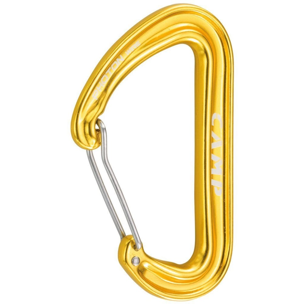 CAMP USA Photon Wire Carabiner - YELLOW