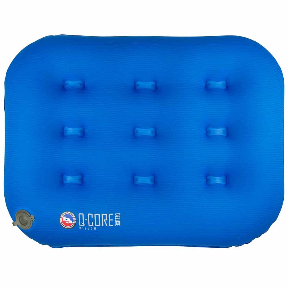 BIG AGNES Q Core Deluxe Camp Pillow - BLUE