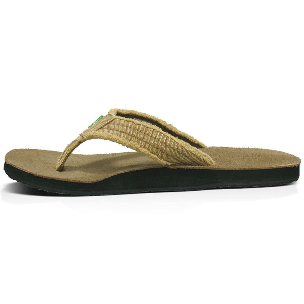 SANUK Men's Fraid Not Flip Flops - KHA-KHAKI