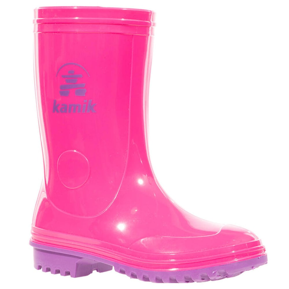 KAMIK Girls' Pebbles Rain Boot - PINK/PURPLE