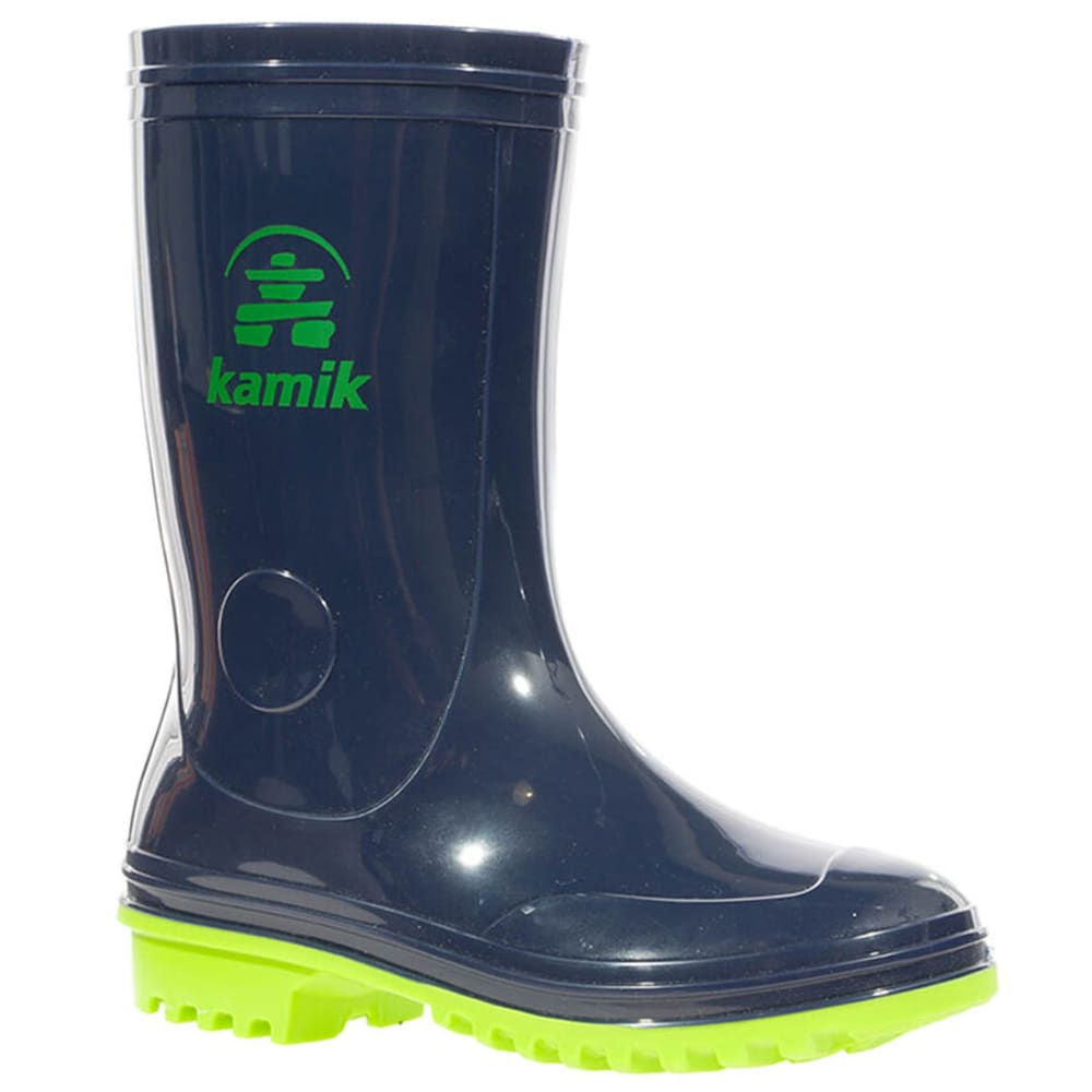KAMIK Boys' Pebbles Rain Boots - NAVY/LIME