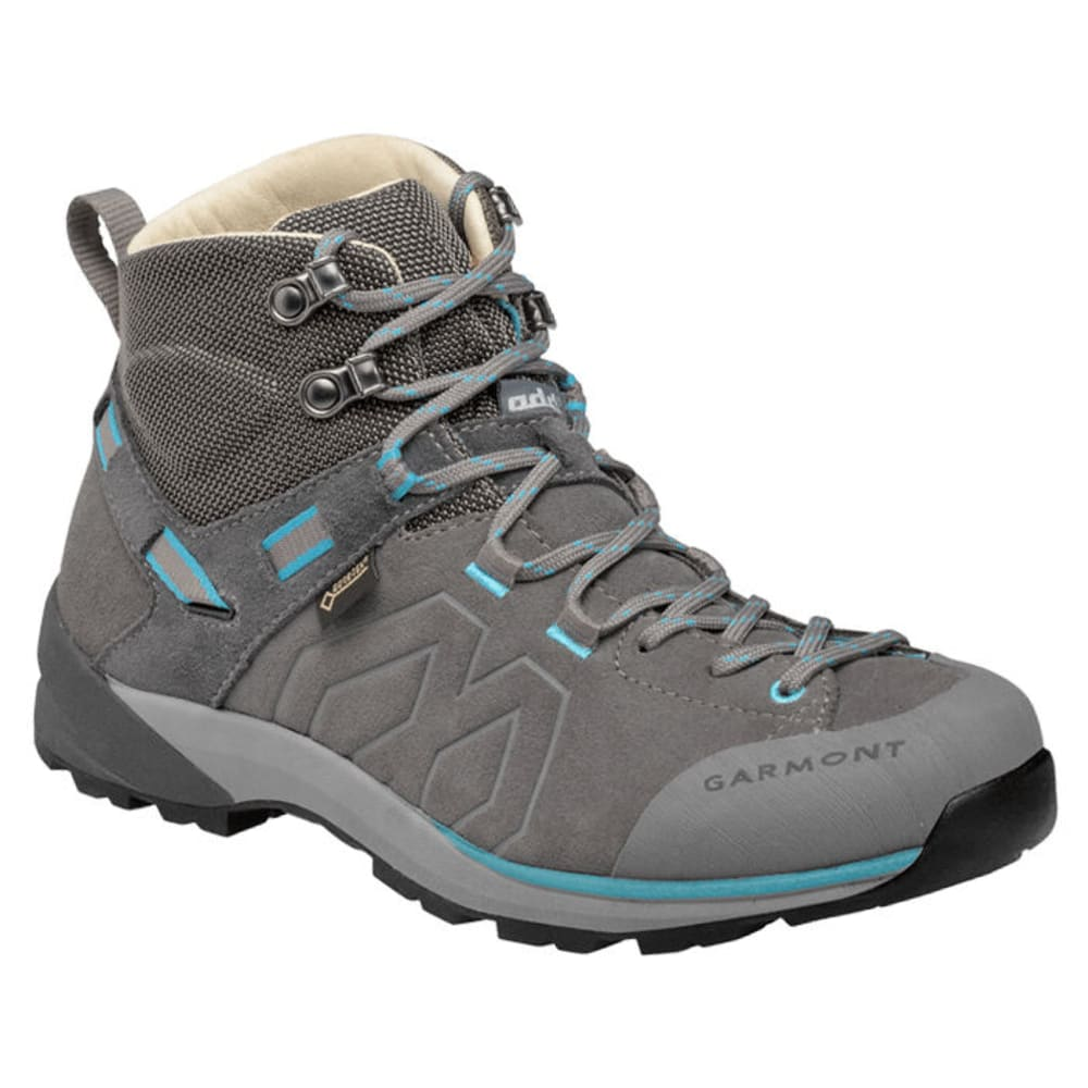 GARMONT Women's Santiago Mid GTX Hiking Shoes - GREY/TURQ