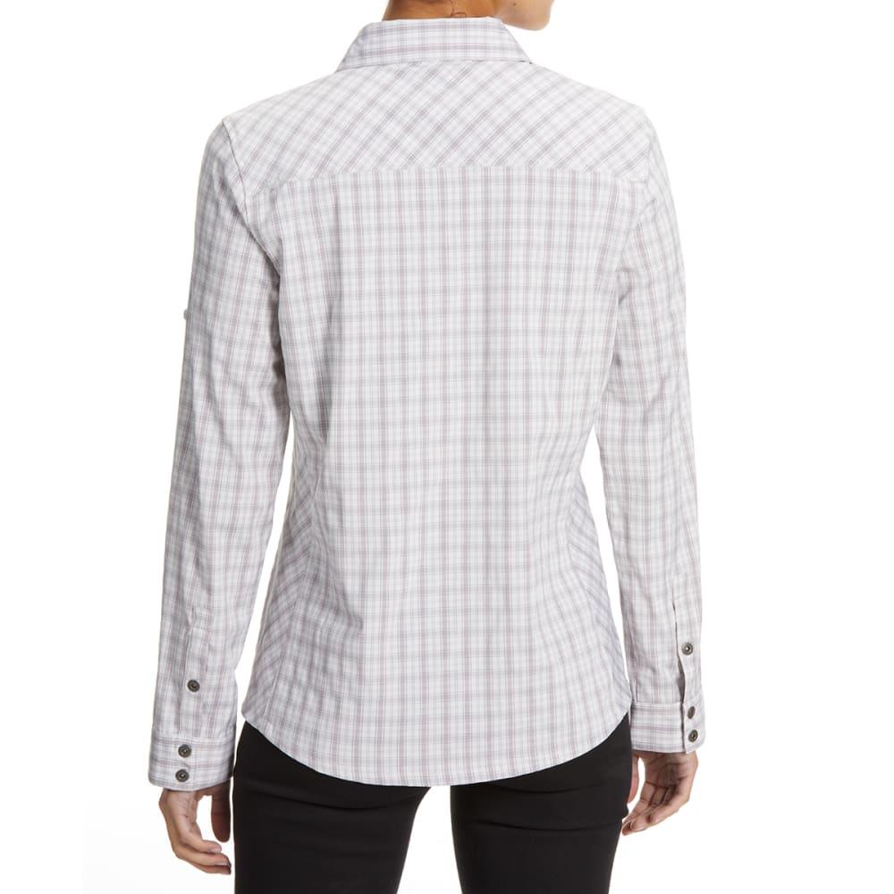EMS Women's Journey Woven Long-Sleeve Shirt - VINTAGE VIOLET PLAID