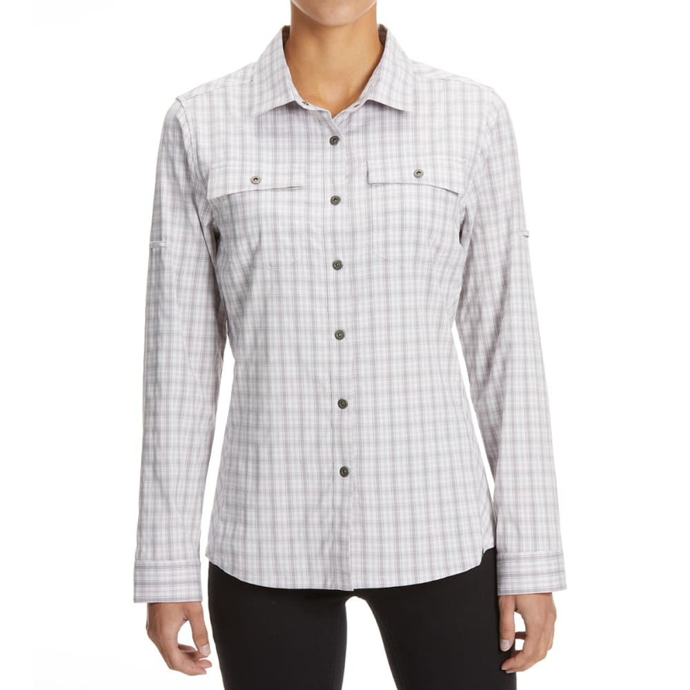 EMS Women's Journey Woven Long-Sleeve Shirt - VINTAGE VIOLET PLAID
