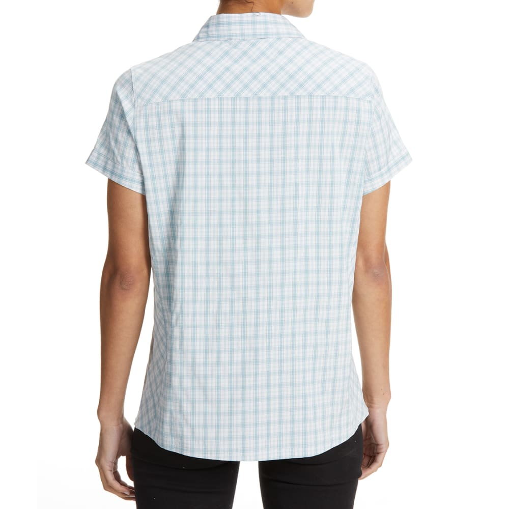 EMS Women's Journey Woven Short-Sleeve Shirt - HYDRO PLAID