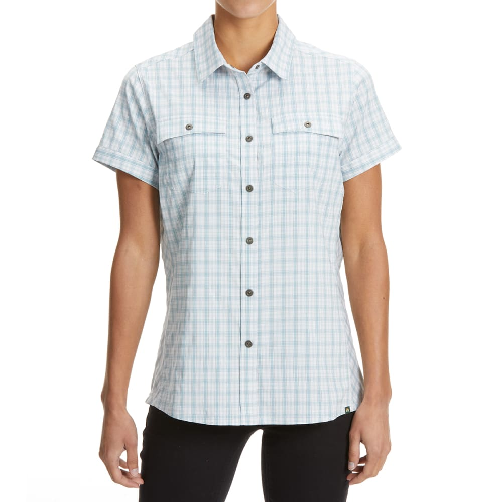 EMS Women's Journey Woven Short-Sleeve Shirt - HYDRO PLAID