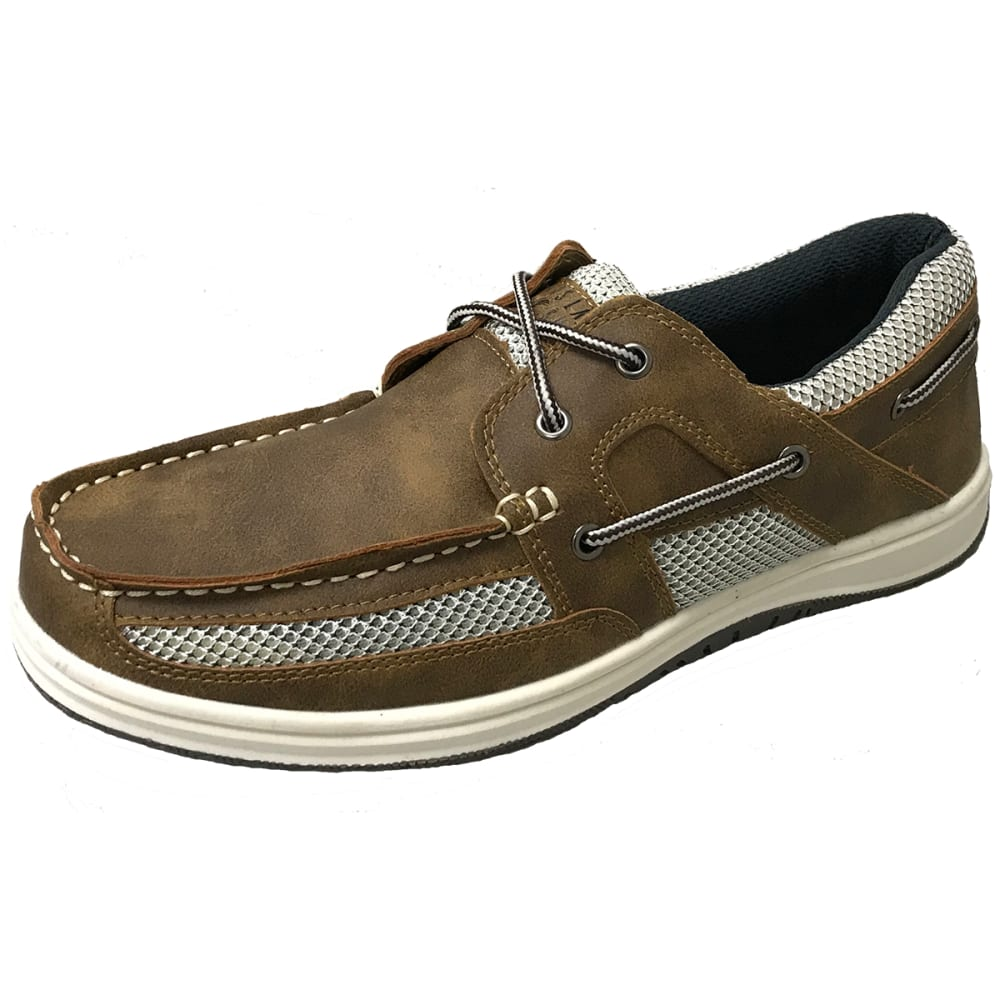 ISLAND SURF COMPANY Men's Mast Boat Shoes - LT BROWN