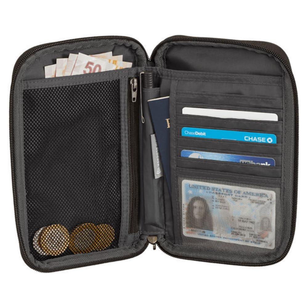 EAGLE CREEK RFID Travel Zip Organizer - BLACK