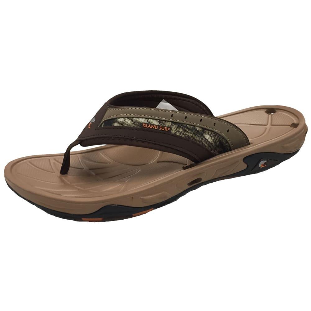 ISLAND SURF Cruz Sandals - BROWN-BRN
