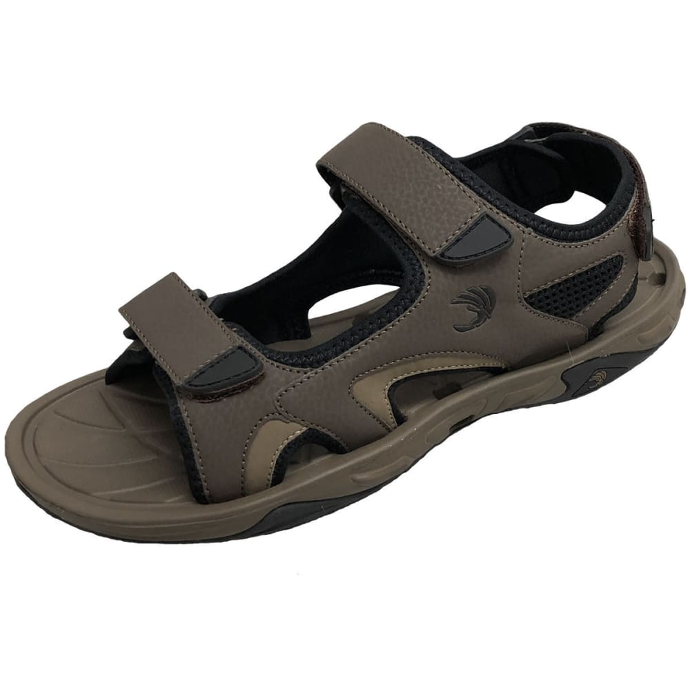 ISLAND LIFE SURF COMPANY Men's Yarmouth River Sandals - BROWN-BRN