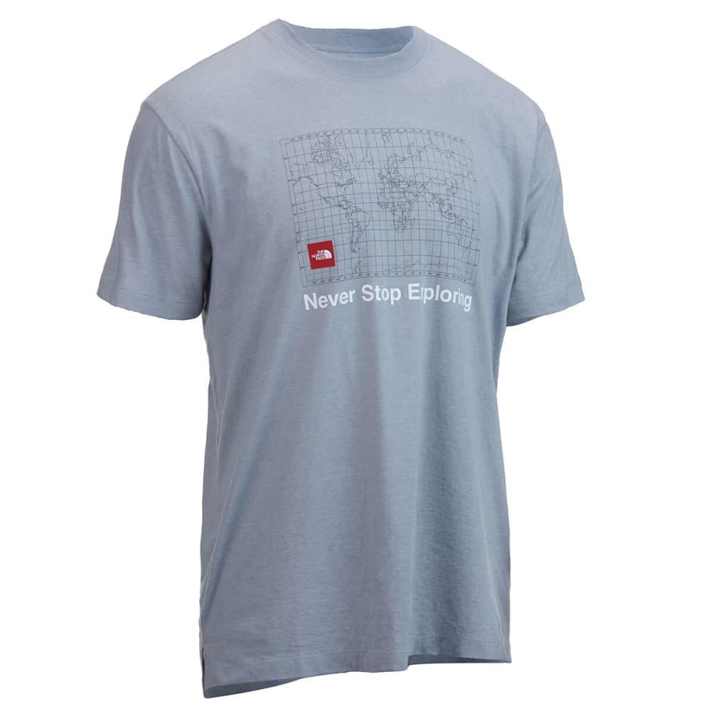 THE NORTH FACE Men's Short-Sleeve Recycled Material Tee - MRD TNF LT GREY
