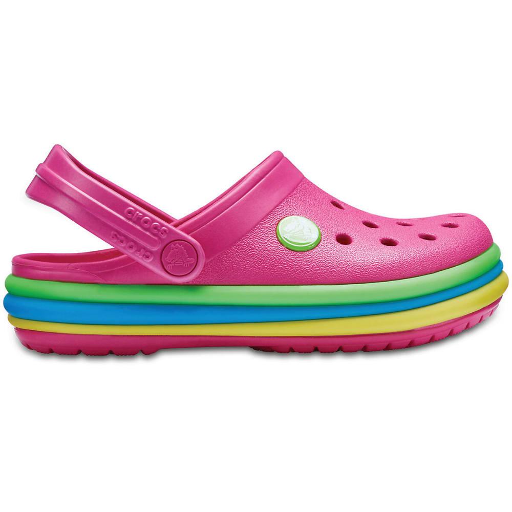 CROCS Kids' Crocband Rainbow Band Clog - PARADISE PINK-6NP