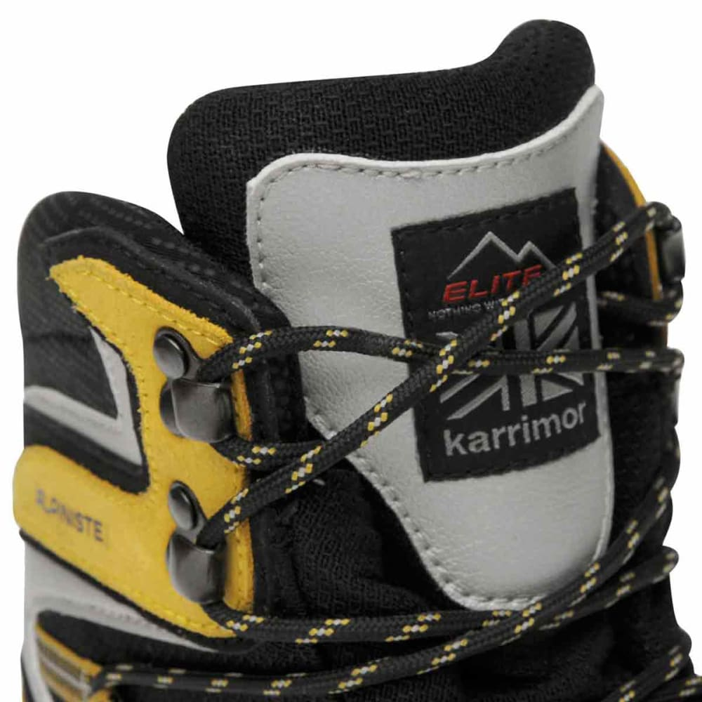 KARRIMOR Men's Alpiniste Mountain Waterproof Mid Hiking Boots - BLACK/YELLOW