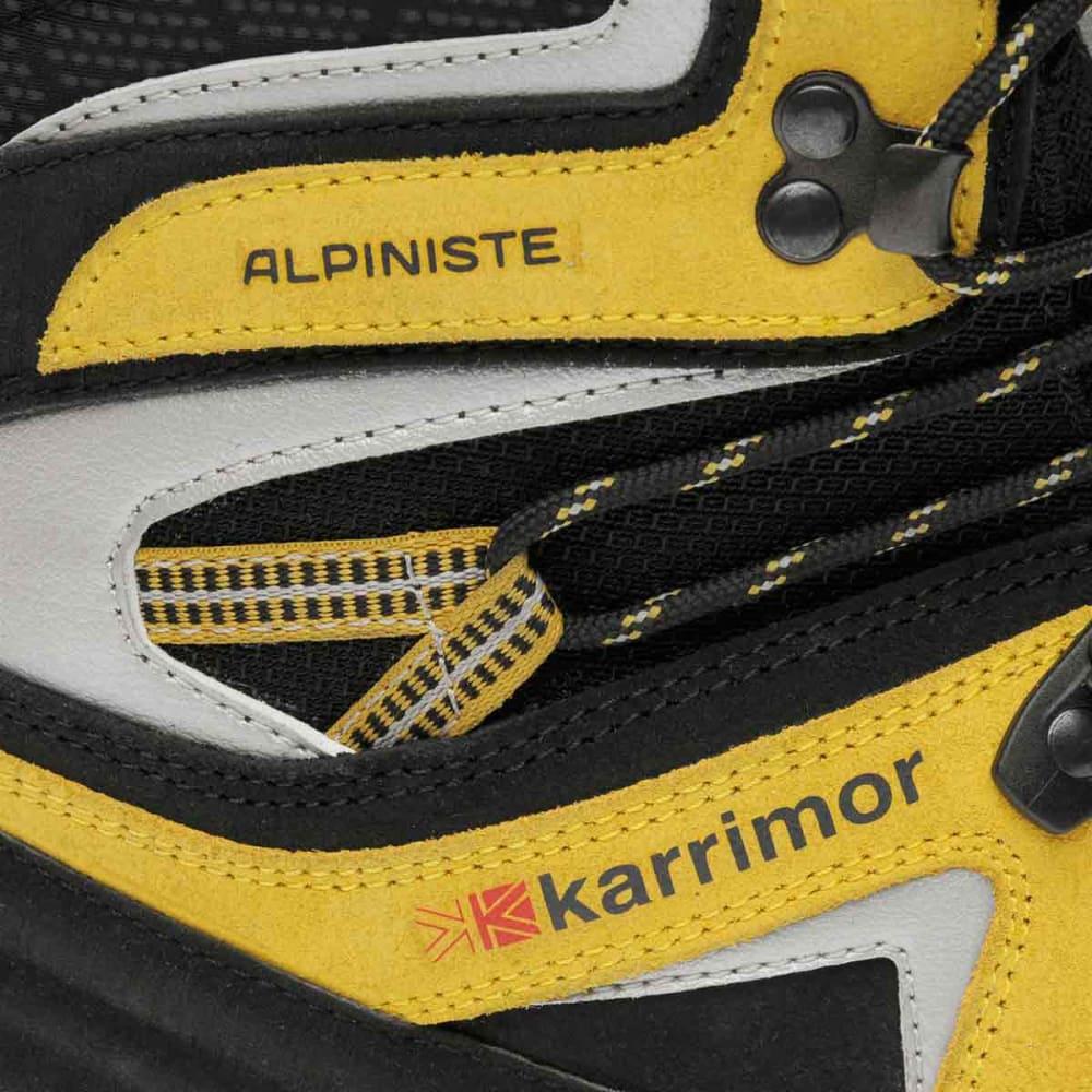 KARRIMOR Men's Alpiniste Mountain Waterproof Mid Hiking Boots - BLACK/YELLOW